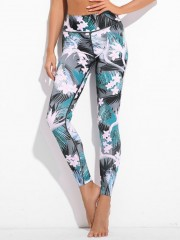 Plant Print Active Leggings COLORMIX L