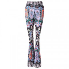 Stylish High-Waisted Printed Boot Cut Women's Exum COLORMIX XL