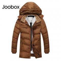 JOOBOX Casual Multi-pocket Zipper Design Warm Hood BLACK 3XL