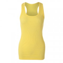 Simple Design Scoop Collar Solid Color Bodycon Rac YELLOW ONE SIZE(FIT SIZE XS TO M)