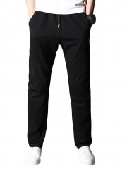 Drawstring Casual Straight Sweatpants BLACK 2XL