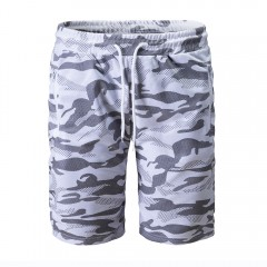 2018 New Men's Camouflage Lace Shorts WHITE L