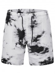 Ink Painting Quick Dry Summer Shorts CRYSTAL CREAM M