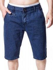Faux Pocket Design Zipper Fly Casual Shorts DEEP BLUE XL
