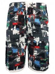 Figure Print Drawstring Hem Beach Shorts GRAY XL