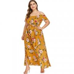 Plus Size Cami Empire Waist Dress BEE YELLOW L