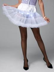 Ruffles Light Up Tutu Voile Cosplay Skirt WHITE ONE SIZE