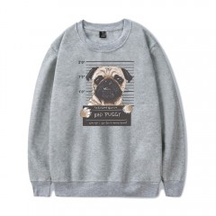2018 New Cartoon Dog Sweatshirt GRAY S