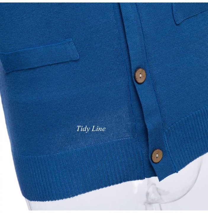 Casual Solid Color V Neck Long Sleeve Slim Fit Knitwear for Men