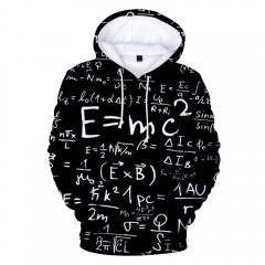 2018 New Equation Print 3D Hoodie MULTI-A XS