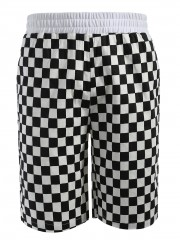 Grid Pattern Casual Shorts MULTI S