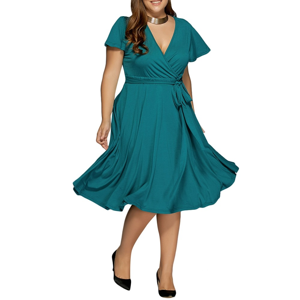 55367bb1c1f Low Cut A Line Plus Size Surplice Front Tie Swing GREEN 6XL  Product No   2503868. Item specifics  Seller SKU C6PDBNXCN  Brand