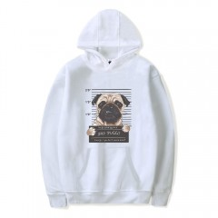 2018 New Cartoon Dog Hoodie WHITE L