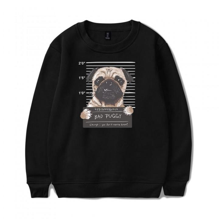 2018 New Cartoon Dog Sweatshirt GRAY S