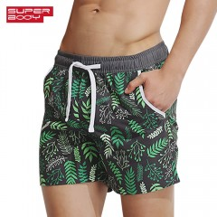 SUPERBODY SUP180823 Men Printing Beach Quick-dryin HAZEL GREEN 2XL