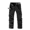 COCOCICI Men Fashion Trousers Multi-pocket Men's Workwear Casual Pants Cotton Casual Overalls gray 32