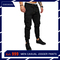 COCOCICI Fastion Men Trouser Side Pockets Elastic Cuffed Jogger Pants multiple pockets casual pants Black L