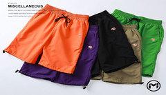Pure color casual men's shorts GRASS GREEN L