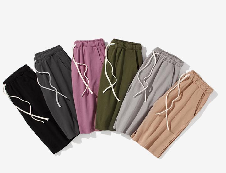 Plain shorts  men's baggy pants basic baggy khaki s
