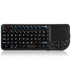 UKB-100-RF 2.4 Ghz Ultra Mini Keyboard with Touchp BLACK