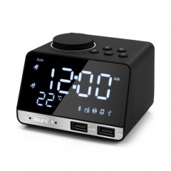 Inlife K11 Bluetooth 4.2 Radio Alarm Clock Speaker BLACK AU PLUG