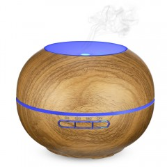 RY23B Aromatherapy Essential Oil Diffuser with Col WOOD COLOR UK PLUG