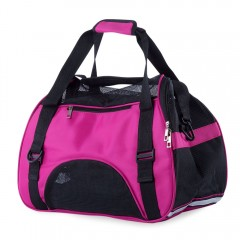 Pet Dog Cat Outdoor Carrier Travel Tote Bag Breath ROSE RED S