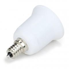 YouOKLight 1PCS E12 to E26 / E27 Light Lamp Bulb A WHITE + SILVER