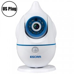 ESCAM Penguin QF521 Wireless WiFi Baby Monitor 1.0 WHITE US PLUG