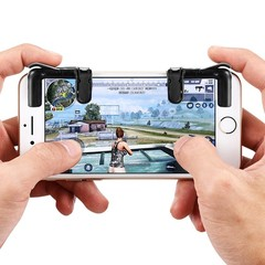 gocomma Pair of Mobile Game Controllers Sensitive  BLACK