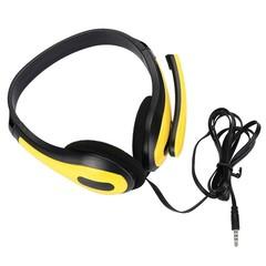 3.5mm Earphone Headset Stereo LED Gaming Headphone YELLOW
