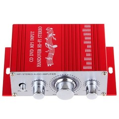 HY2001 Car Small Power Amplifier Hi-Fi Auto Music Player  RED