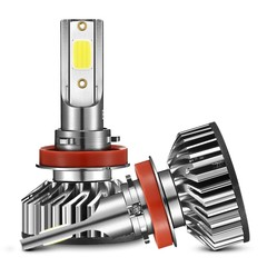 EV8 H8 / H9 / H11 Car DOB LED Headlight 72W 8000LM 6500K Front Lamp GRAY