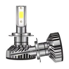 EV8 H7 Car DOB LED Headlight 72W 8000LM 6500K Front Lamp GRAY
