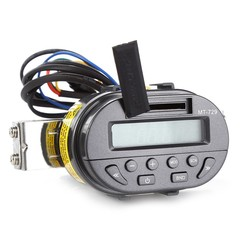MT729 Water Resistant Motorcycle Handlebar Audio Remote Control MP3 Player FM Radio Support SD MMC Card BLACK