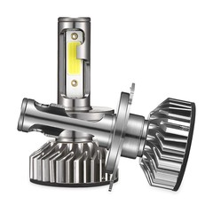 EV8 H4 / 9003 / HB2 Car DOB LED Headlight 72W 8000LM 6500K Front Lamp GRAY