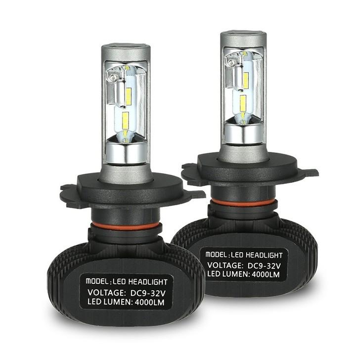 1 Kit Super Bright Lightness High Low Beam PK43T LED Conversion Kit H4 MULTI