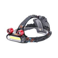 U'King 3000LM 8 LEDs COB Proximity Lighting with 2 Long Range Lighting LEDs Multifunction Light-weight Headlamp BLACK