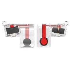 2PCS Mobile Game Fire Button Aim Key L1/ R1 Shooter Controller TRANSPARENT