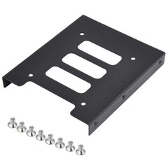 SpedCrd 2.5 Inch To 3.5 Inch Hard Disk Holder SSD Bracket with 8pcs Screw BLACK