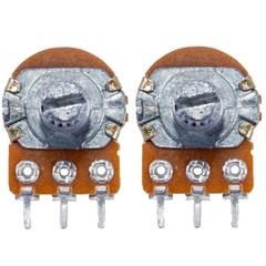 Rotary Potentiometer Panel Mount for Arduino (Pack of 2) COPPER 5K OHM