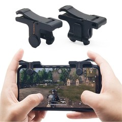 Gaming Triggers for Mobile Phone PUBG L1 R1 Controller Game Fire Button Aim Key BLACK 1 PAIR