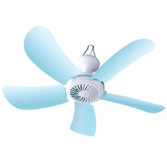Mini Silent Five-leaf Ceiling Fan BLUE