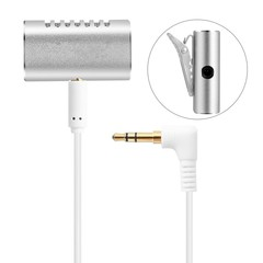 Yanmai R977 lavalier conference dual microphone dual condenser microphone SILVER