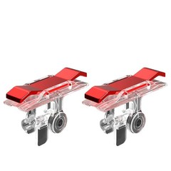 2PCS Mobile Phone Game handle Fire Button Trigger L1R1 Shooting Controller RED