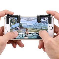 Mobile Phone Gaming Fire Button Trigger L1R1 Shooting Controller BLACK