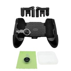 4 in 1 for PUBG Phone Game Trigger Controller Fire Button Joystick Gamepad Kit BLACK