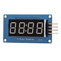 4 Digital Tube Display Module LED Brightness Adjustable Hour BLUE