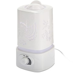 Ultrasonic Aroma Humidifier Aroma Oil Diffuser Air Purifier Ioniser LED Light Lamp 白色