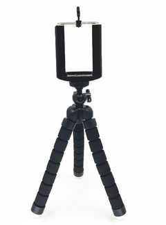 Universal Compact Tripod Stand Flexible Octopus Phone Camera other black 1PCS